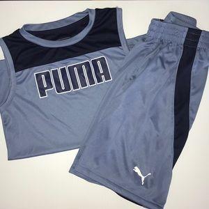 Boys puma set shirt and shorts